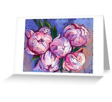 Pink Peonies. Greeting Card