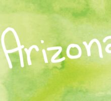 Green Watercolor Arizona Sticker