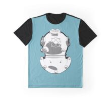 Diving Helmet on Blue Canvas Graphic T-Shirt