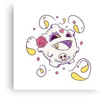 Koffing Popmuerto | Pokemon & Day of The Dead Mashup Canvas Print