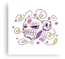 Weezing Popmuerto | Pokemon & Day of The Dead Mashup Canvas Print