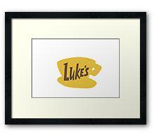 Luke's Diner Framed Print