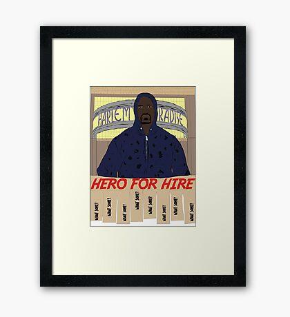Luke Cage Hero For Hire Framed Print