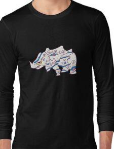 Rhyhorn Popmuerto | Pokemon & Day of The Dead Mashup Long Sleeve T-Shirt
