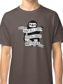 Nap All Day Party Never Classic T-Shirt