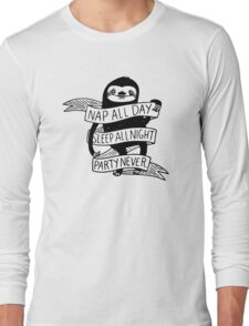 Nap All Day Party Never Long Sleeve T-Shirt