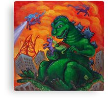 My Little Kaiju Canvas Print