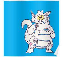 Rhydon Popmuerto | Pokemon & Day of The Dead Mashup Poster
