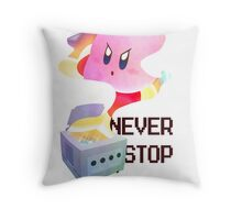 GameCube Tribute - Kirby Throw Pillow
