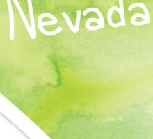 Green Watercolor Nevada Sticker