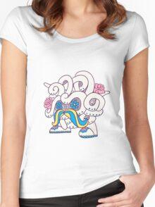 Tangela Popmuerto | Pokemon & Day of The Dead Mashup Women's Fitted Scoop T-Shirt