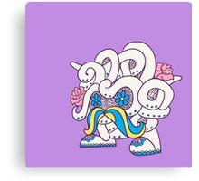 Tangela Popmuerto | Pokemon & Day of The Dead Mashup Canvas Print
