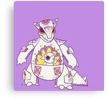 Kangaskhan Popmuerto | Pokemon & Day of The Dead Mashup Canvas Print