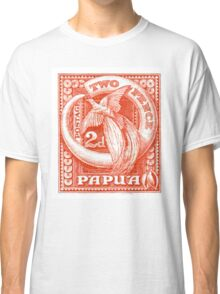 1932 Papua New Guinea Bird of Paradise Postage Stamp Classic T-Shirt