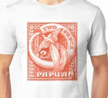 1932 Papua New Guinea Bird of Paradise Postage Stamp Unisex T-Shirt