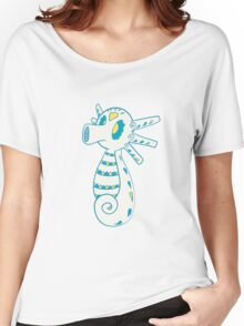 Horsea Popmuerto | Pokemon & Day of The Dead Mashup Women's Relaxed Fit T-Shirt