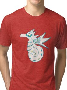 Seadra Popmuerto | Pokemon & Day of The Dead Mashup Tri-blend T-Shirt