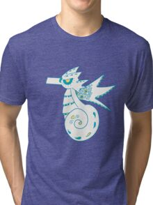 Seadra Popmuerto | Pokemon & Day of The Dead Mashup Tri-blend T-Shirt