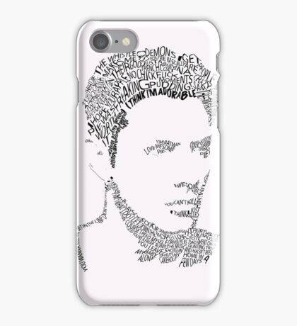 Dean Winchester Quote Portrait iPhone Case/Skin