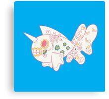 Seaking Popmuerto | Pokemon & Day of The Dead Mashup Canvas Print