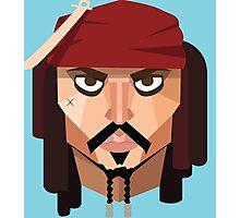 Geometric Jack Sparrow Photographic Print