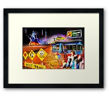 The Last Hot Dog Stand on Mars Framed Print