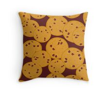 Yummy Chocolate Cookies Throw Pillow