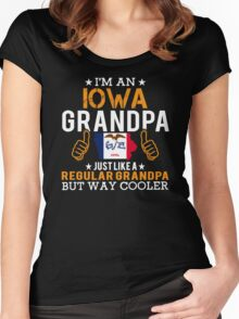 I'm an Iowa Grandpa Women's Fitted Scoop T-Shirt