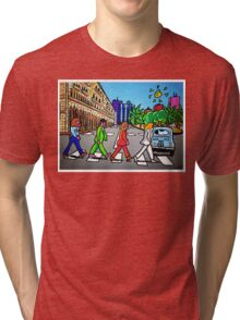 Beatles in Sardinia New With White Border Tri-blend T-Shirt