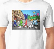 Beatles in Sardinia New With White Border Unisex T-Shirt