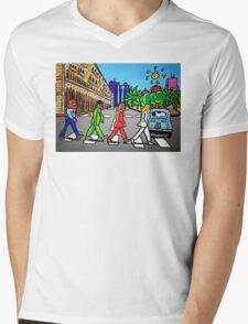 Beatles in Sardinia New With White Border Mens V-Neck T-Shirt