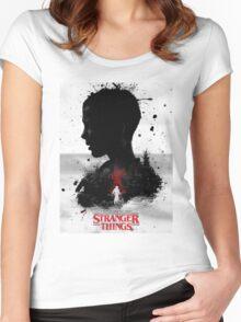 STRANGER THINGS Merchandise Women's Fitted Scoop T-Shirt