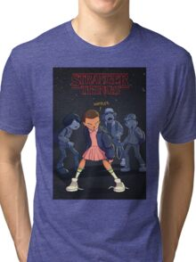 STRANGER THINGS Gifts and Merchandise Tri-blend T-Shirt