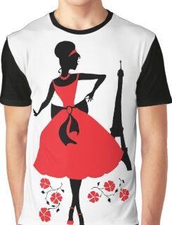 Retro woman silhouette Graphic T-Shirt