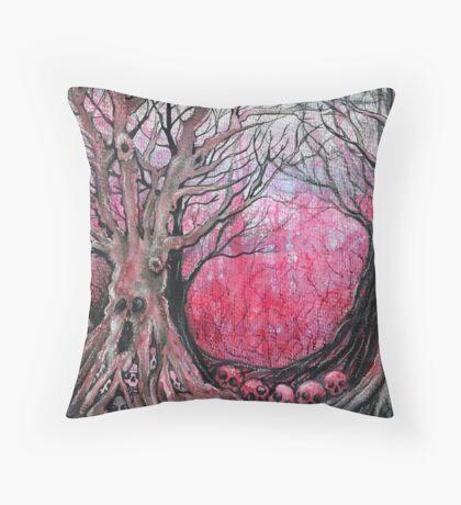 blood trees  Throw Pillow