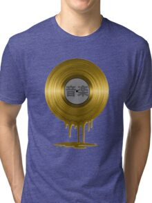 Melting Gold Record Tri-blend T-Shirt