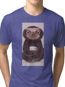 Sloth I Love Yoga Tri-blend T-Shirt