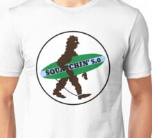 Squatchin Surfboard Bigfoot Unisex T-Shirt