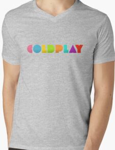 coldplay Mens V-Neck T-Shirt