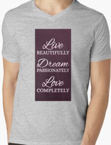 Life Beautifully Mens V-Neck T-Shirt