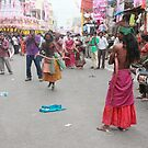 Bonolu Festival Old City Hyderabad by Andrew  Makowiecki