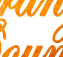 Orange County Written in Orange Sticker
