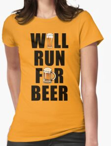 Workout Will Run for Beer Womens Fitted T-Shirt
