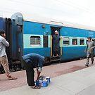 Train Kachiguda Train Station Hyderabad India by Andrew  Makowiecki