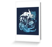 Mystery Kids (Blue) Greeting Card