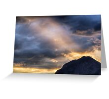 Sunset at the Austrian Alps Greeting Card