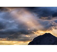 Sunset at the Austrian Alps Photographic Print