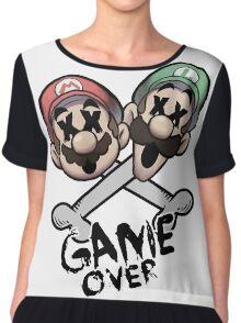 Mario and Luigi Game Over Chiffon Top