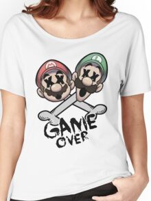Mario and Luigi Game Over Women's Relaxed Fit T-Shirt