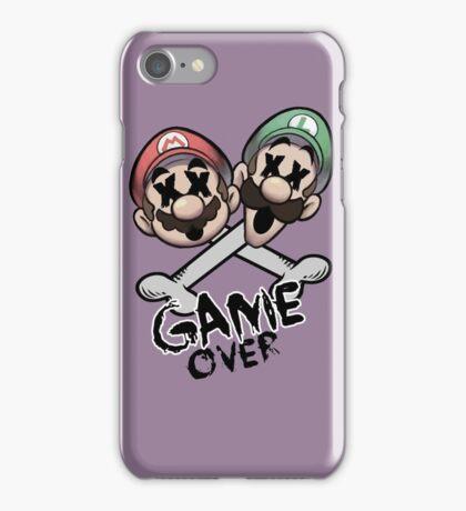 Mario and Luigi Game Over iPhone Case/Skin